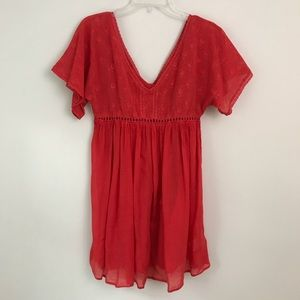 Free People Red Two Piece Dress